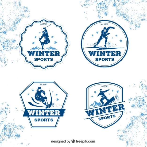 Winter sport badges