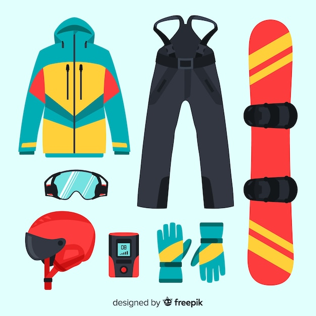 Winter sport equipme Free Vector