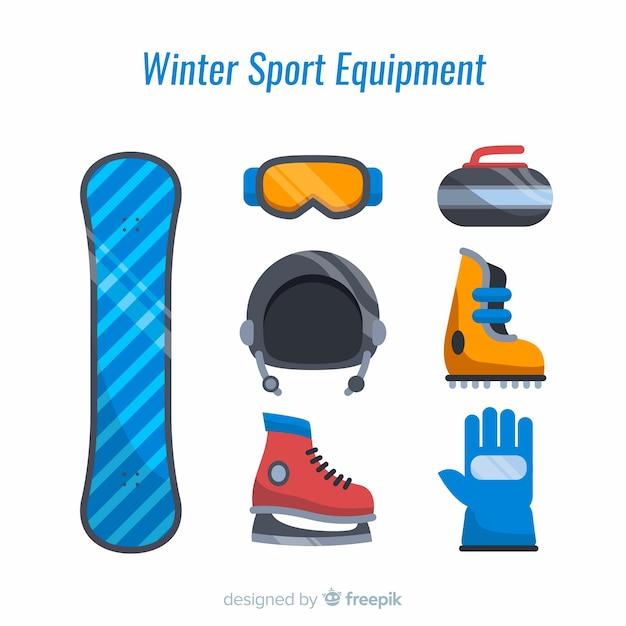Winter sport equipment Free Vector