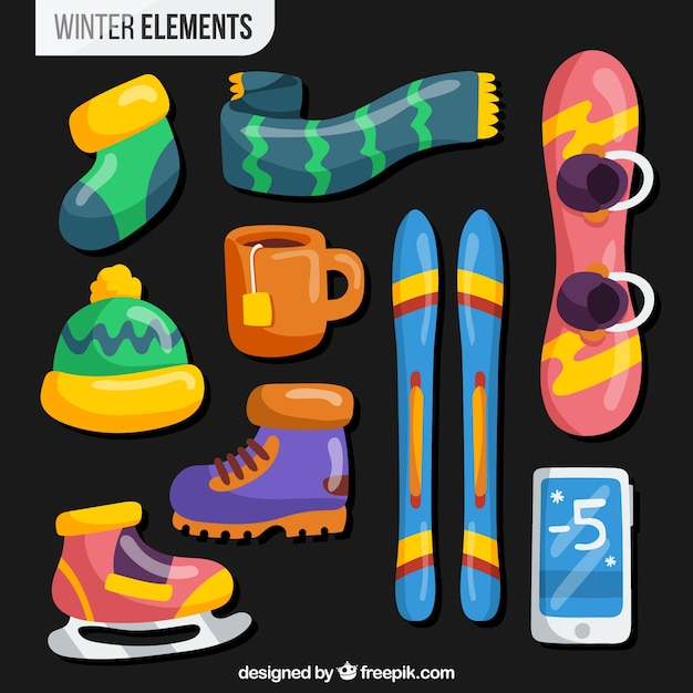 Winter Sports Elements Collection