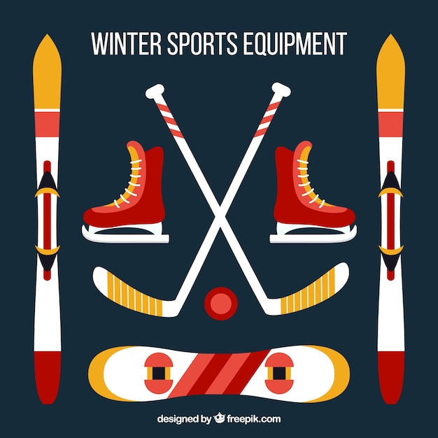 Winter sports equipment set