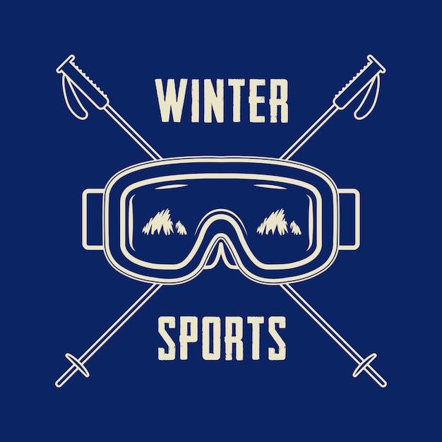Winter sports logo Premium Vector