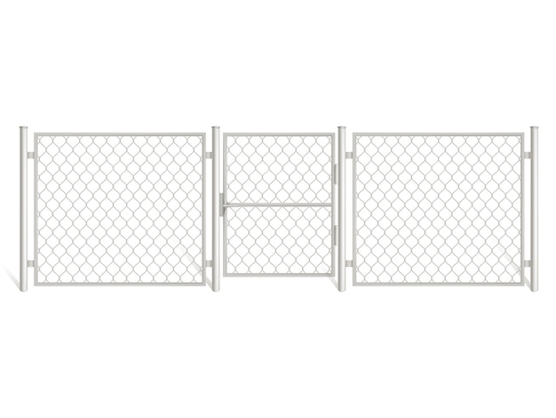 Wire fence isolated on white background. Free Vector