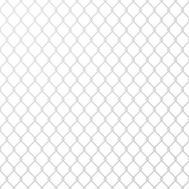 Wire mesh steel metal on white background. Premium Vector