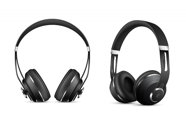 Wireless headphones set Free Vector
