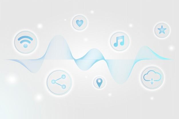 Wireless network technology Free Vector