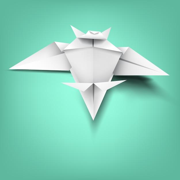 Wisdom on bat paper folding Premium Vector