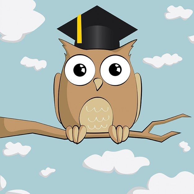 A wise owl Free Vector