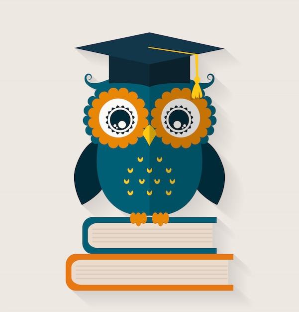Wise owl. Premium Vector