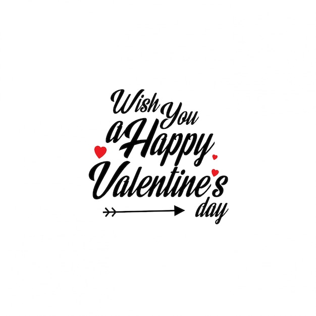 Wish You A Happy Valentine S Day Vector Free Download