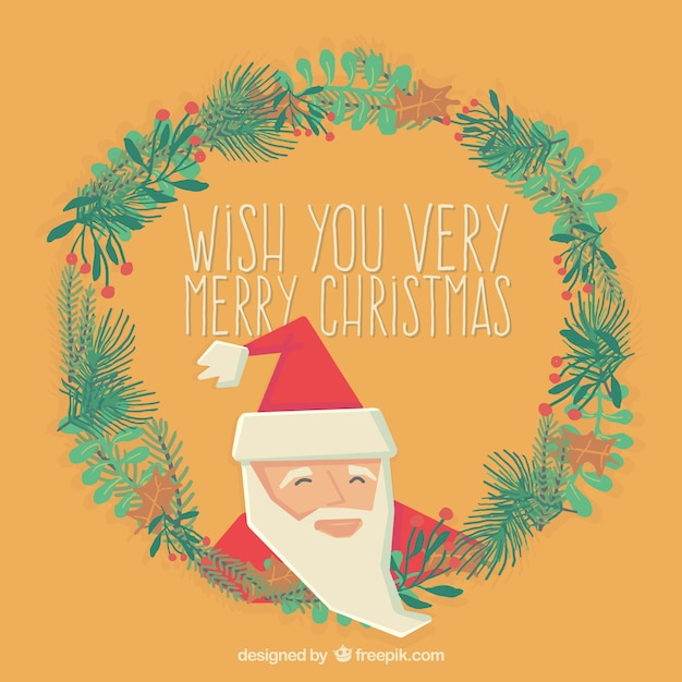 wish you a very merry christmas card free vector