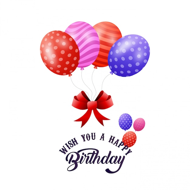 Wish You A Happy Birthday Vector Free Download