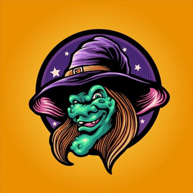 The witch head Premium Vector
