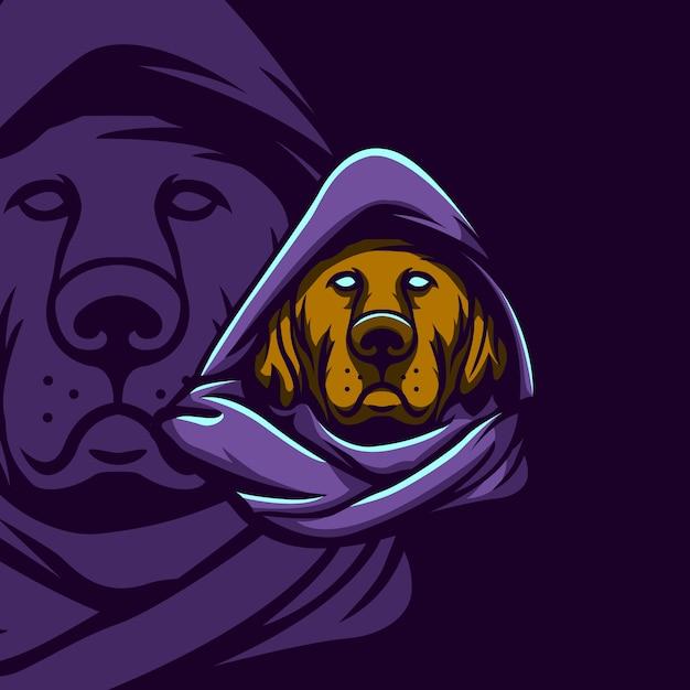 Ведьмак собака Premium векторы