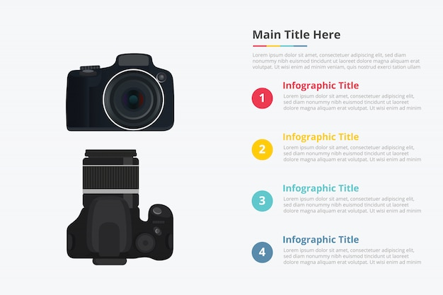 With some point title description for information template Premium Vector