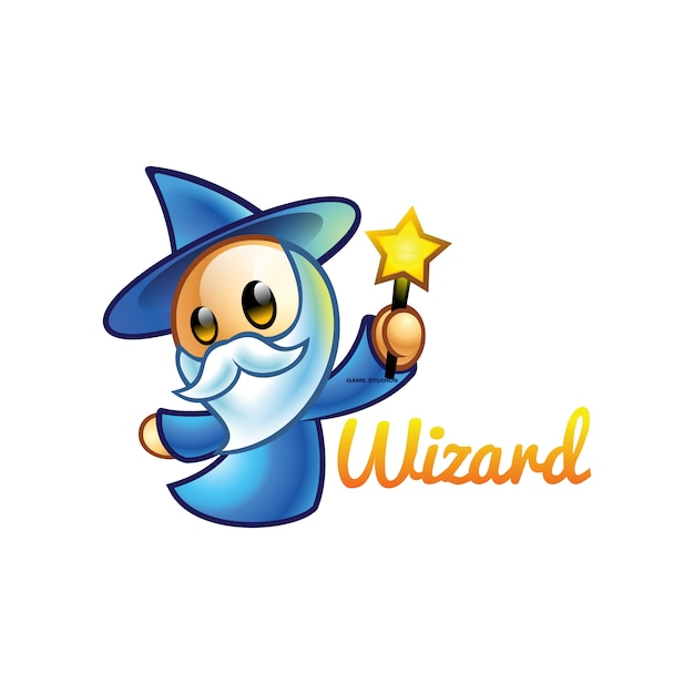 Wizard game studio Premium Vector