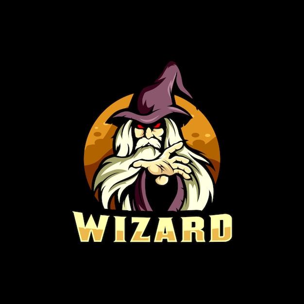Wizard киберспорт логотип Premium векторы