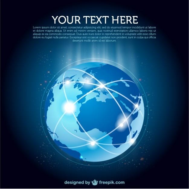 地球woldwideネットワークベクトル 無料ベクター