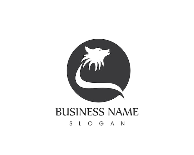 wolf head logo design template vector premium download