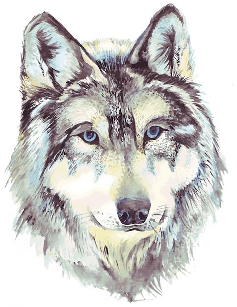 Premium Vector Wolf Head Profile