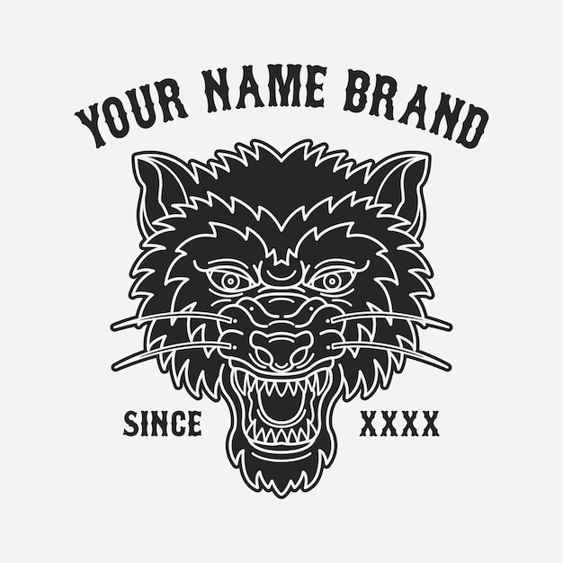 91ecdcda0ef44 Wolf head tattoo design Vector | Premium Download