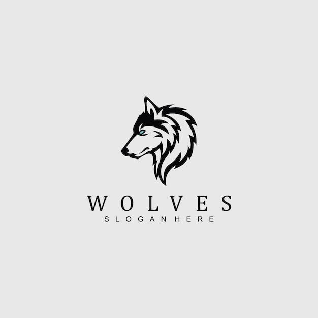 Wolf logo for any company/business Premium Vector