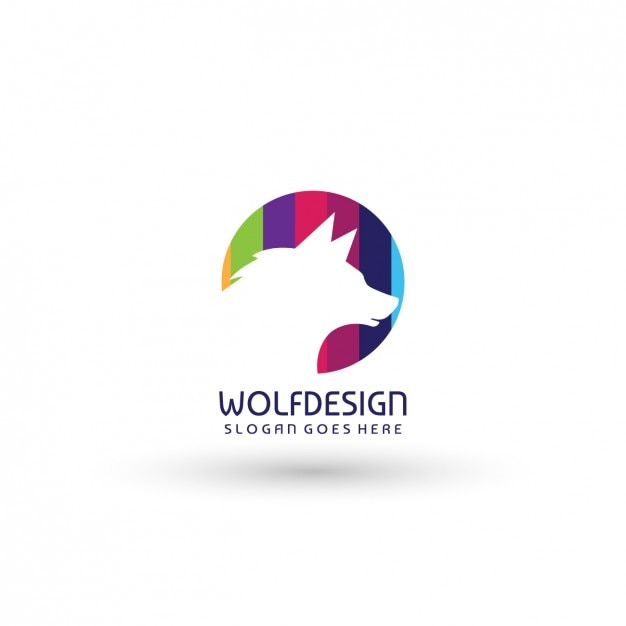 wolf logo template vector free download
