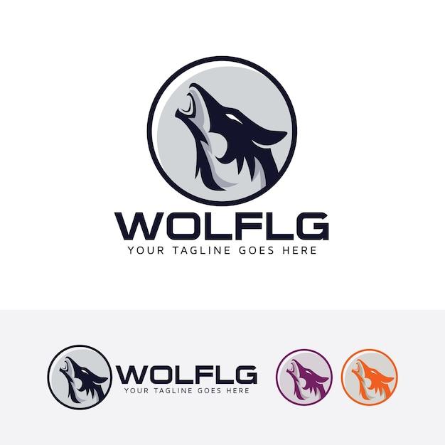 Wolf logo template Premium Vector