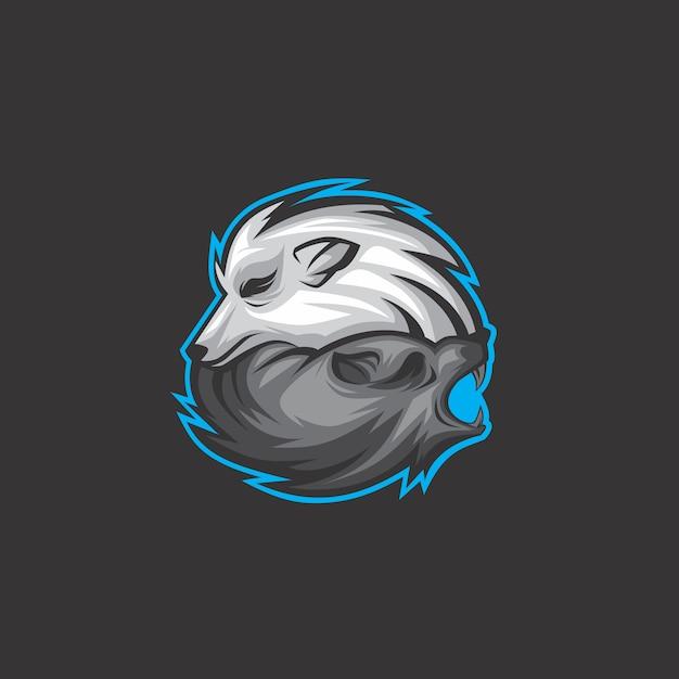 Волк логотип Premium векторы