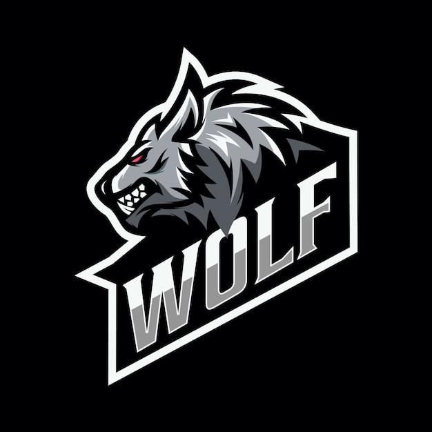 Wolf mascot esport logo Premium Vector