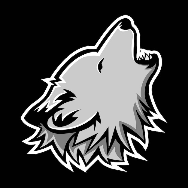Wolf mascot logo Premium Vector