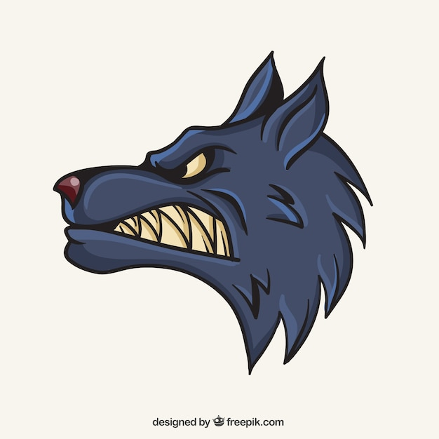 Wolf mascot Free Vector