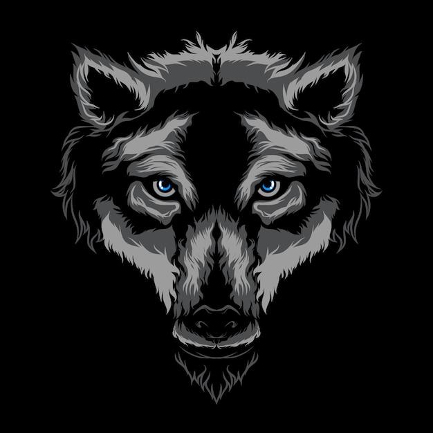 Wolf  vector illustration art Premium Vector
