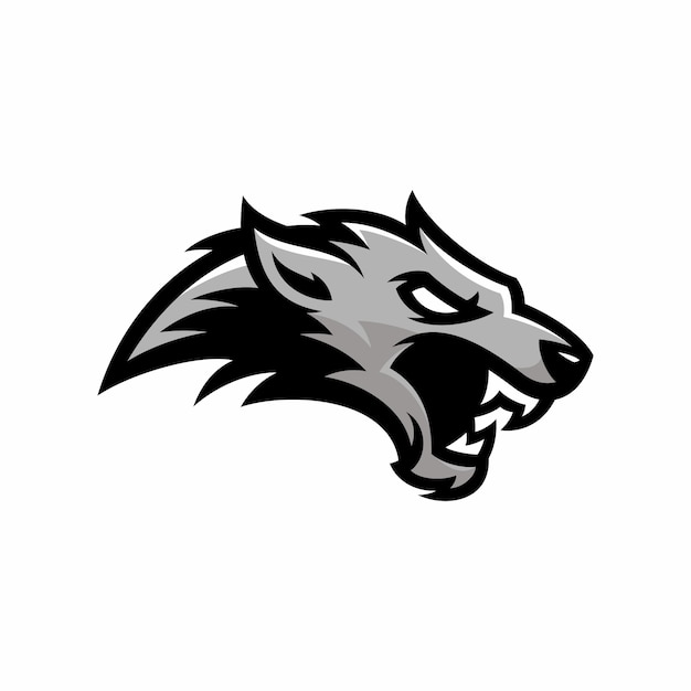 wolf vector logoicon illustration mascot vector