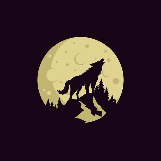 Wolf vintage logoストックベクトル Premiumベクター