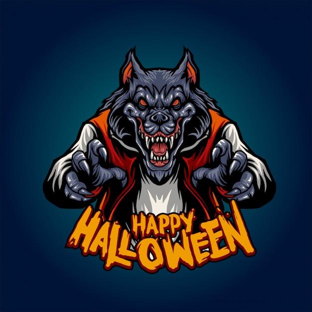 Wolfman terror Premium Vector
