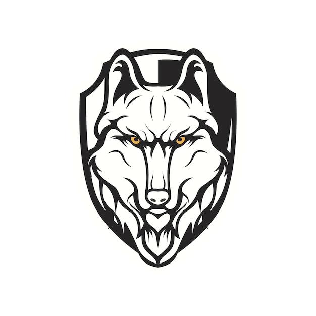 wolves mascot logo head sport team premium vector