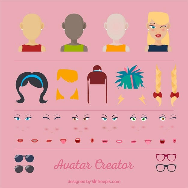 Woman Avatar Creator Vector Free Download