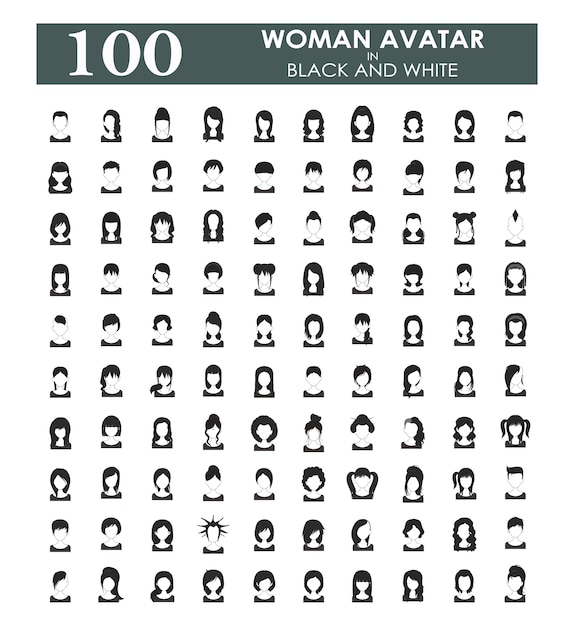 Woman avatars collection Free Vector