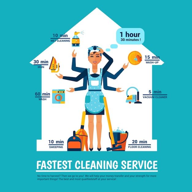 Woman cleaning Free Vector