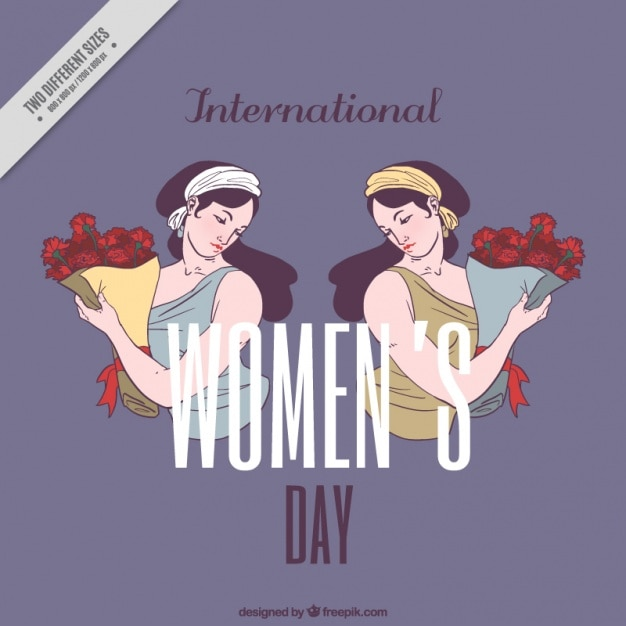 Woman day background with nice illustration