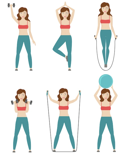 Woman doing exercise designs