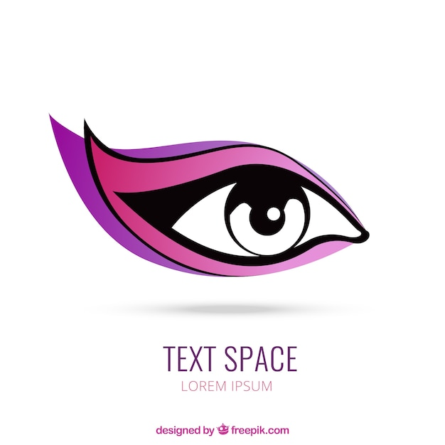 woman eye logo vector free download