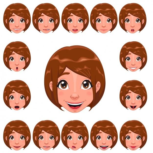 Woman faces design