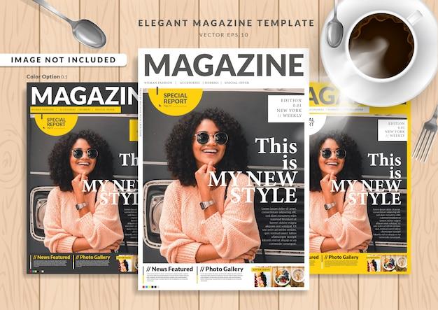 Woman fashion magazine cover Premium Vector
