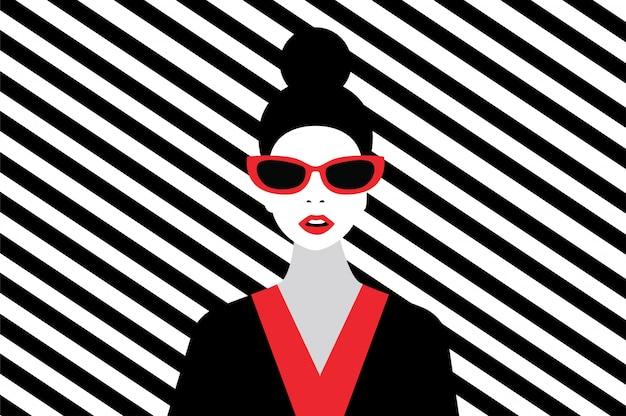 Woman fashion style Premium Vector