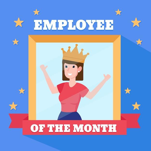 今月の従業員のための女性 無料ベクター