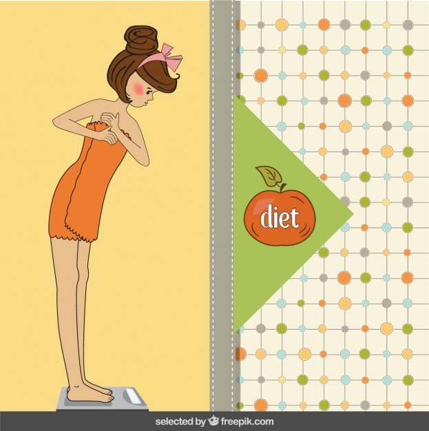 Woman healthy lifestyle illustration Free Vector