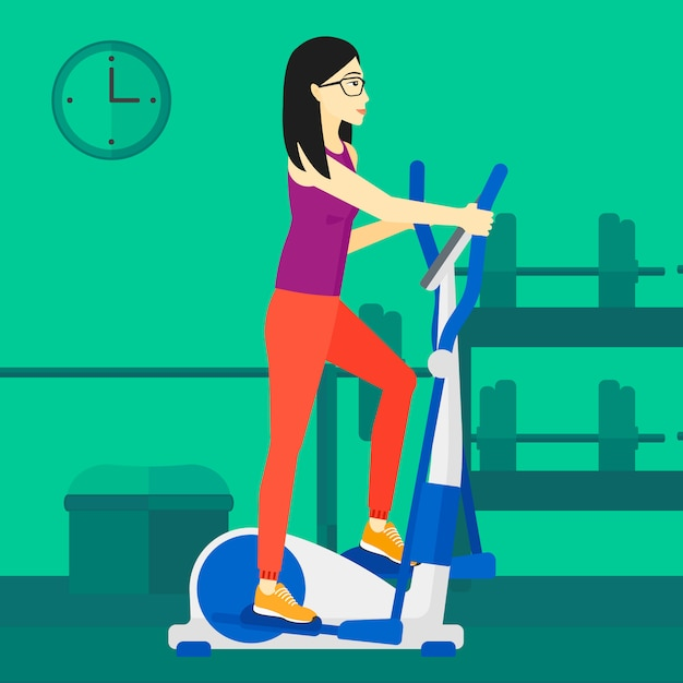 Woman making exercises Premium Vector