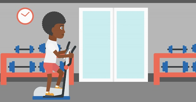Woman making exercises. Premium Vector